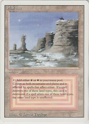 MTG 1X Plateau X1 Revised Edition Magic 3rd 3ED Dual Land LP