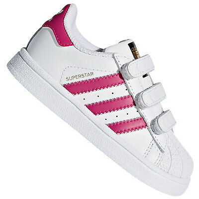 ADIDAS SUPERSTAR BZ0420 BIANCO FUCSIA Bambina Sneakers