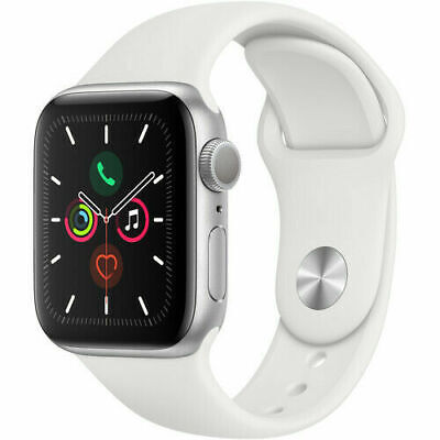 Apple Watch Series 5 40mm Silver Case White Band - (MWV62LL/A) Brand New Sealed