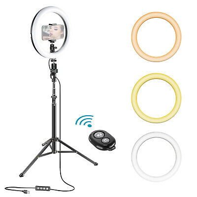 Neewer 10 Inches Dimmable LED Selfie Ring Light for Live Stream/Makeup