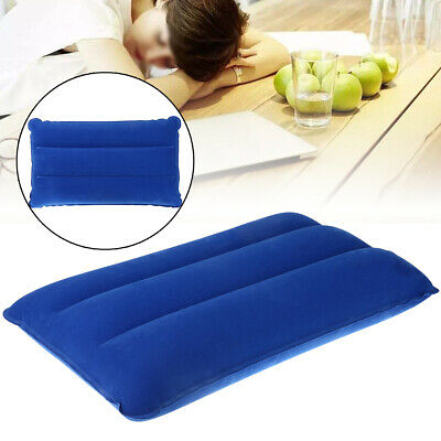2Pcs Travel Camping Inflatable Soft Pillow Head Neck Rest Cushion Blow Up Pad