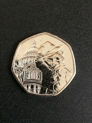 PADDINGTON BEAR AT ST PAULS  50p PENCE COIN 2019