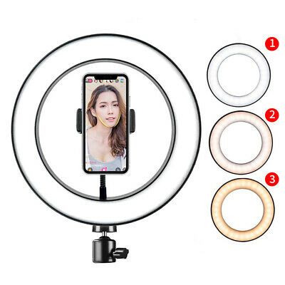 """66"""" Dimmable LED Ring Light 5500K Photography Photo Studio Camera Phone Stand"""