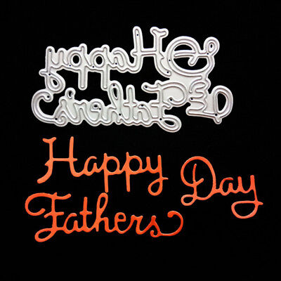 Happy Father Day Metal Cutting Dies For Diy Scrapbooking Album Cards Decor HGUK