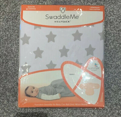 SwaddleMe Wrapsack Transition Swaddle Summer Infant BN Small 1-4 Months