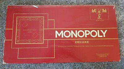 MONOPOLY DELUXE BY WADDINGTONS - 1972 Classic special edition UK board game