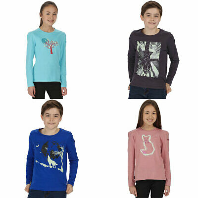 Regatta Boys Boys /& Girls Wilder Glow in The Dark Long Sleeve T Shirt