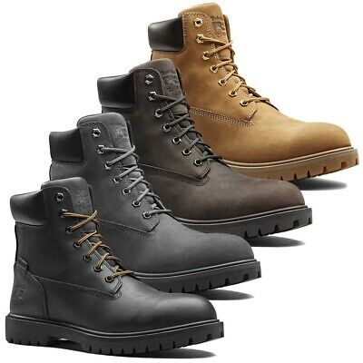 Timberland Pro Mens Iconic Leather Lace Up Safety Boots