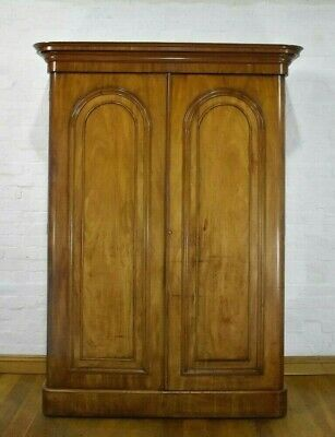 Antique Victorian large double flame mahogany wardrobe