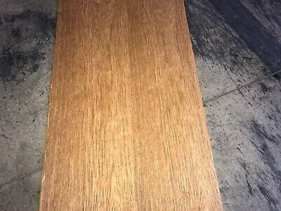 English Brown Oak Wood Veneer. 13 x 103, 3 Sheets.