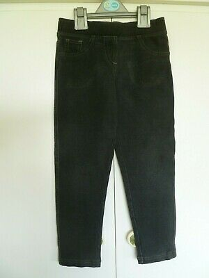 Girls Marks & Spencer Black Stretch Trousers Age 6 - 7 years
