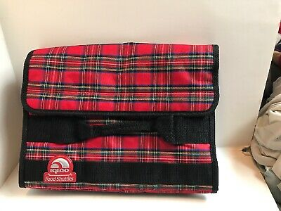 Red Plaid IGLOO brand FOOD SHUTTLES Lunch Potluck Casseroles Insulated New Notag