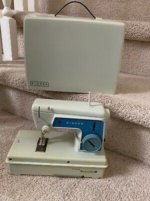 The Little Touch and Sew Sewing Machine by Singer Model 67 A 3 Blue With Lid