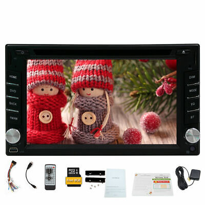 "HD 6.2"" Double 2 Din In Dash Car Stereo DVD Player GPS Navigation BT Radio NEW"