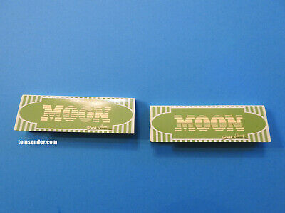 2 Packs MOON Green Normal Size HEMP Rolling Papers (50 Leaves Each) Super Deal!!