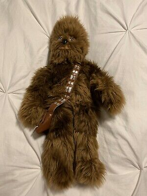 """Disney Parks Exclusive STAR WARS PLUSH CHEWBACCA with PACK 20"""" New Without Tags."""