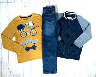 8 9 Years Bnwt Tops Jeans Knit Jacket Boys Trendy Winter Outfit Clothes Bundle