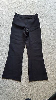 Girls Black Marks & Spencers School Trousers Age 9 Excellent Condition