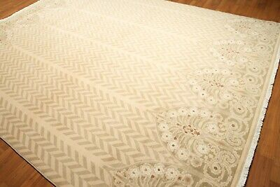 9' x 12' hand knotted Wool Traditional Oriental Area Rug full pile 9x12 Beige