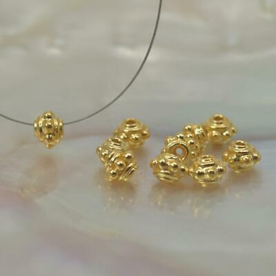 Lot 10 Bali Spacer 4.00 mm Beads 1.70 g Gold Vermeil 24K over Sterling Silver