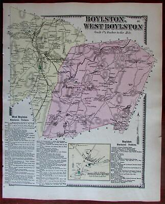 Boylston West Boylston 1870 Worcester Co. Mass. detailed map