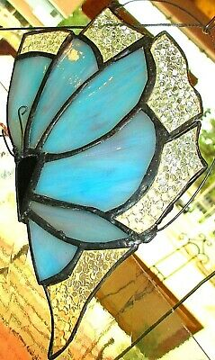 BUTTERFLY  stained glass SUN CATCHER ;