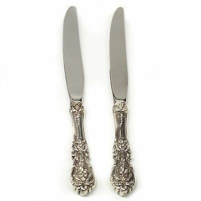 Two Reed & Barton Francis I Sterling Silver Lunch Knives - No Mono