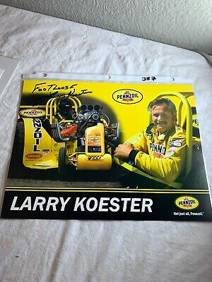"""""""Footloose"""" Larry Koester Signed Penzoil Tractor Pulling Champion 8.5 X 11 N357"""