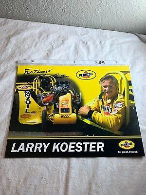 """Footloose"" Larry Koester Signed Penzoil Tractor Pulling Champion 8.5 X 11 N359"