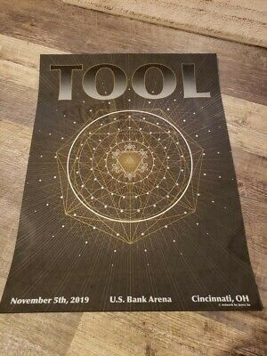 TOOL Concert Poster Cincinnati 11.5.19 2019 Tour limited edition of 650 2 layers