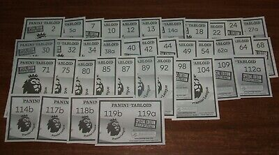Panini Tabloid Premier League large x38 all different stickers.