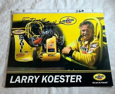 """""""Footloose"""" Larry Koester Signed Penzoil Tractor Pulling Champion 8.5 X 11 N360"""
