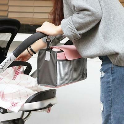 Hanging Bag Stroller Accessory Nylon Bottle Organizer Baby Carriage StorageBagOJ