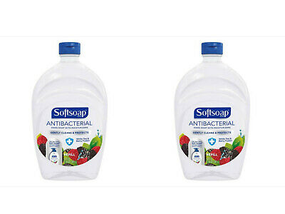 Softsoap Antibacterial Liquid Hand Soap with Moisturizers Refill 50oz (Lot of 2)