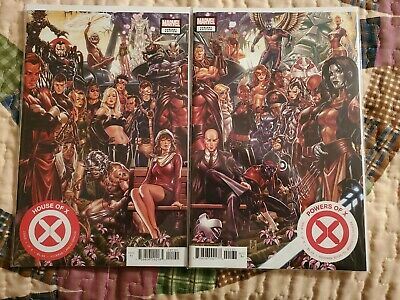 HOUSE OF X & POWERS OF X # 1 Comic BROOKS CONNECTING Cover VARIANT SET NM Unread