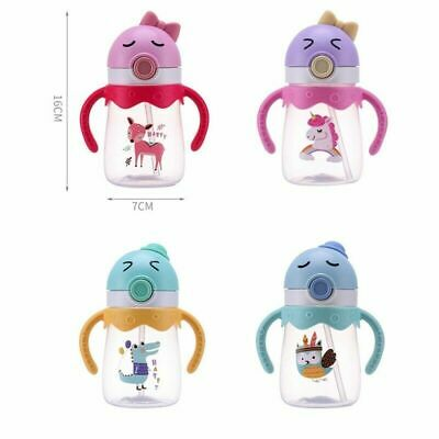 Toddler Baby Kid Feeding Drinking Water Straw Bottle Sippy Suction Cup Czx Shns