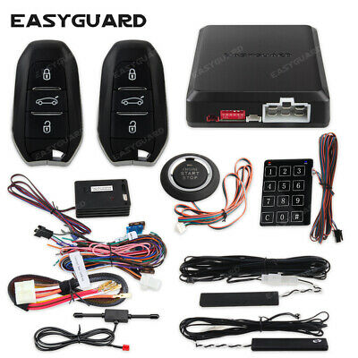 Easyguard Car Alarm System With Keyless Entry & Push Button Starter