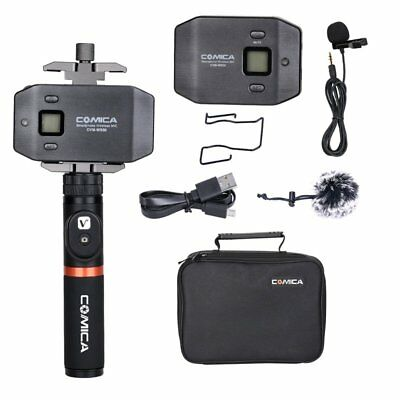 COMICA WS50A 6-Channels Lavalier Wireless Smartphone Microphone + Bluetooth Grip