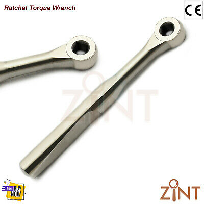 Dental Impant Torque Ratchet Wrench 4.0mm Square Driver Adapter Instruments New
