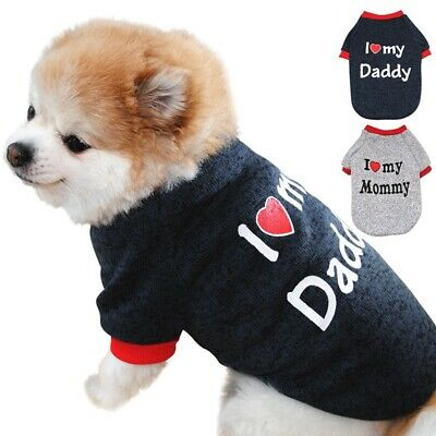 Pet Dog Cotton Fleece Sweater Clothes Puppy Cat Winter Warm Coat Apparel Costume