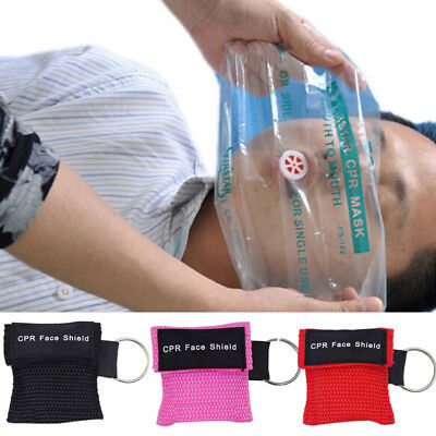 First Aid Resuscitation CPR Facemask Face Mask Shield Key-Ring