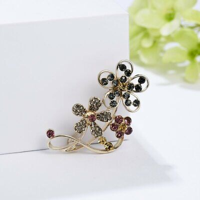 Fashion Crystal Pearl Flower Plate Brooch Pin Charm Womens Jewellery Charm Party