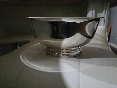 """NEWPORT STERLING SILVER PAUL REVERE 9"""" REPRODUCTION BOWL #13139 WEIGHS 606 Grams"""