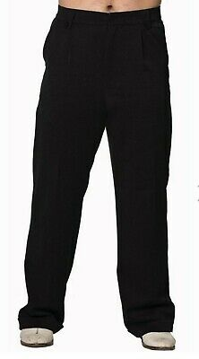 Dancing Days Vintage Rockabilly Mens trousers fabric trousers-Get in Line Black