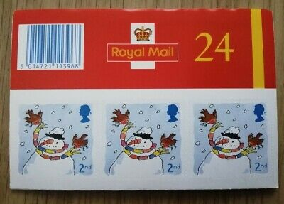 Royal Mail - Christmas 2001 Booklet of 24 Second Class Mint Stamps