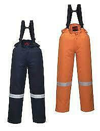 Portwest Araflame Insulated Salopettes Winter Flame Resistant Elasticated Straps