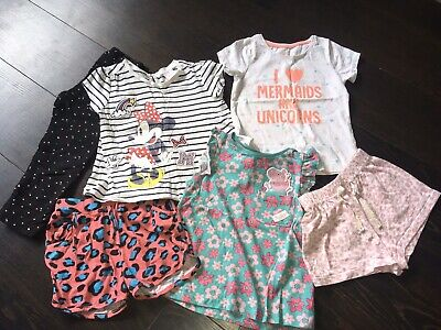 Girls 2-3 Years bundle Shorts T-Shirts Leggings Minnie Mouse Peppa Pig