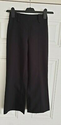 Girls Black School Trousers Age 9-10 Yrs New Without Tags