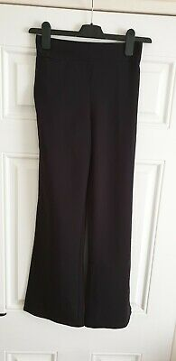 Girls Black School Trousers Age 12 Yrs New Without Tags