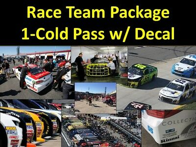 DAYTONA 500 - NASCAR Team Package... Cold Garage, Pits, Decal & more!